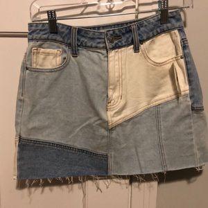 Pacsun patchwork jean skirt (never worn)